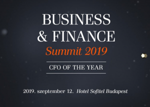 Business and Finance Summit 2019 - CFO of the year - 2019. szeptember 12.
