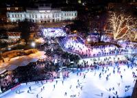 Bécsi jégvarázs a Városháza téren