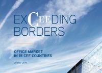 A teljes irodai állomány a 15 KKE országban meg fogja haladni a 30 millió m²-t 2021-re
